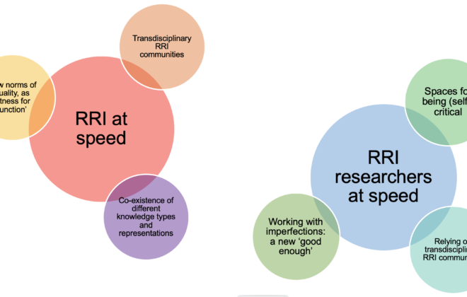 Summary of the key reflections about RRI at speed