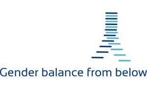 "Logo for the research project ""Gender balance from below""."