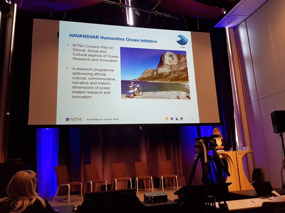 Bilde av PowerPoint slide om HAVANSVAR fra Ocean Week 2019
