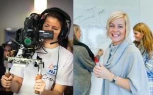 Studenter som lærer å utvikle prosjekter og produksjoner i media.