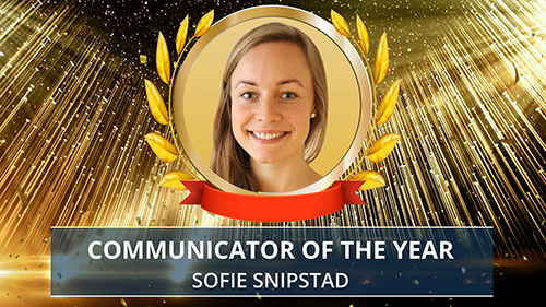 Sofie Snipstad award presentation. Photo