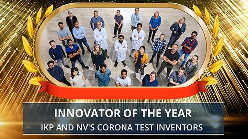 Innovators of the corona test method award presentation. Photo