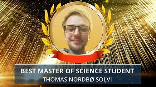 Thomas Nordbø Solvi award presentation. Photo