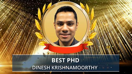 Dinesh Krishnamoorthy award presentation. Photo