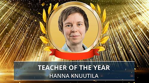 Hanna Knuutila award presentation. Photo