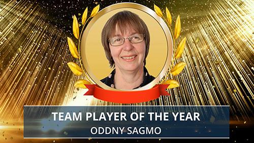 Oddny Sagmo award presentation. Photo