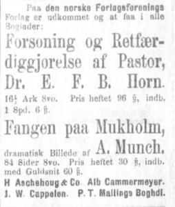 Hentet fra Aftenposten Desember 1875