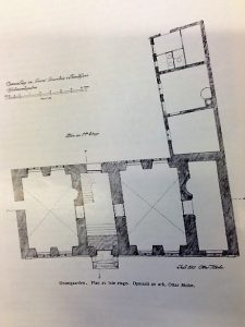Plan over 1.etasje. Oppmålt av ark. Ottar Mohn
