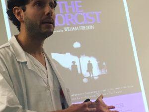 Nærbilde av foredragsholder Joan Vidal Crespi.