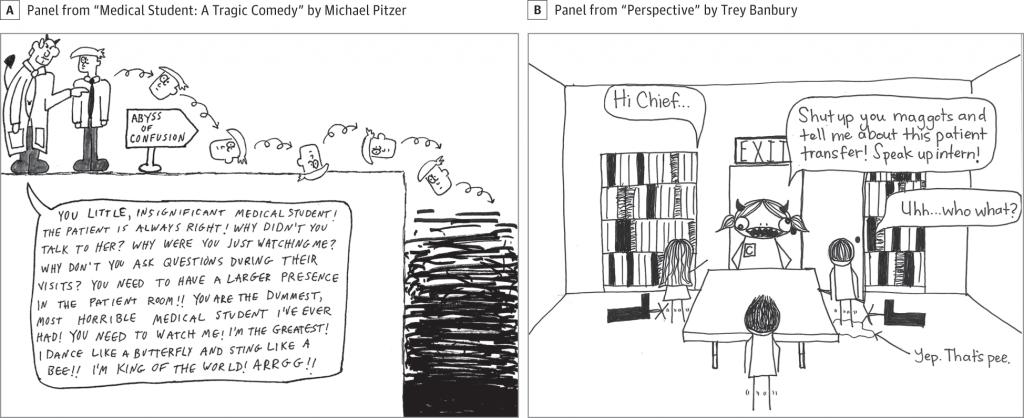 Tegneserier av studenter fra Penn State College Trey Banbury og