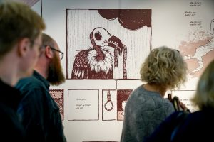 Foto fra åpning av utstillingen