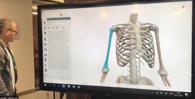 """You can test Visible body on our 86"""" touchscreen in the library."""