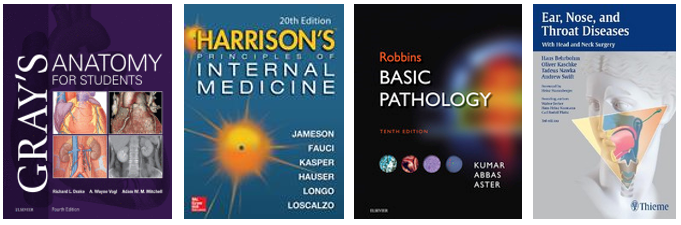The library provides many textbooks in medicine and health