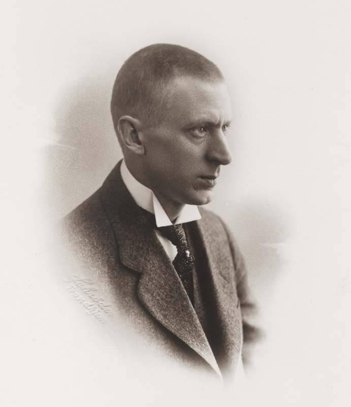 Portrett av Olaf Nordhagen (16.3.1883 – 6.11.1925). Foto: Schrøder/NTNU UB (PO-014269)