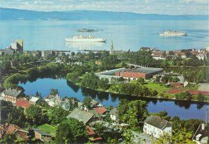 Utsikt over Trondheim med Trondheimsfjorden