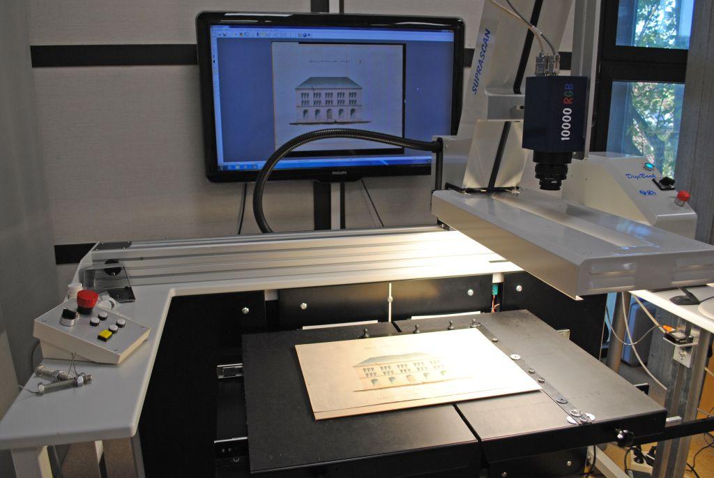 Digitalisering i scanner vid Spesialsamlingene