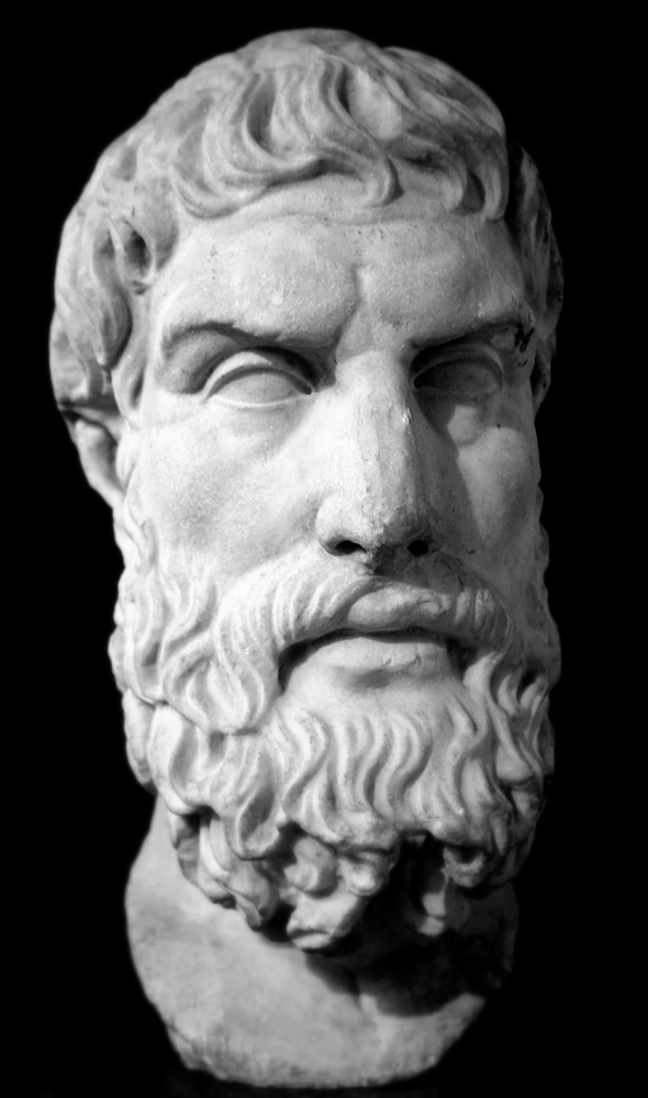 Byste av Epikur (ca. 2. årh. f.Kr.)
