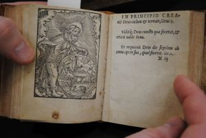 En side i boken Enchiridion Piarum Precationum Cum Calendario et Passionale.