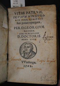 Tittelblad av boken Vitae patrum in usum ministrorum verbi