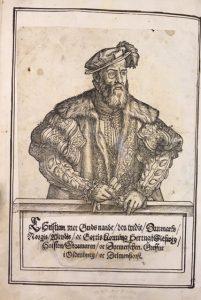 Reformasjonsbibelen, portrett av Christian III