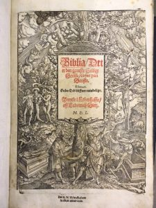 tittelblad av reformasjonsbibelen