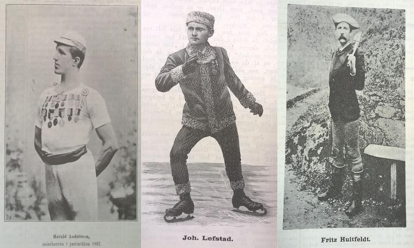 Harald Andersen, Johannes Lefstad, Fritz Huitfeldt
