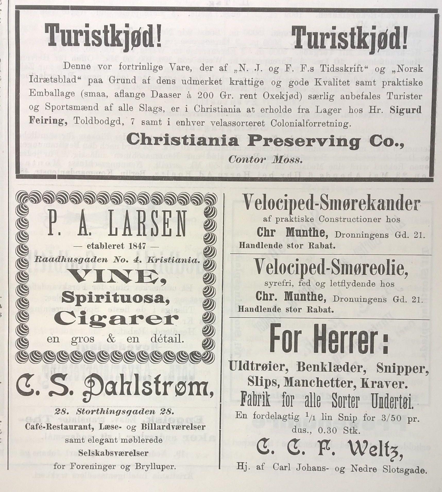 gammel reklame