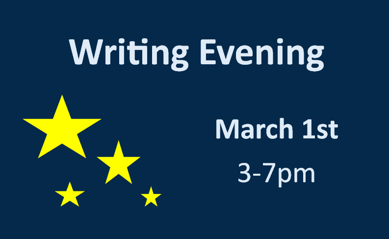 Writing Evening in the Library March 1st