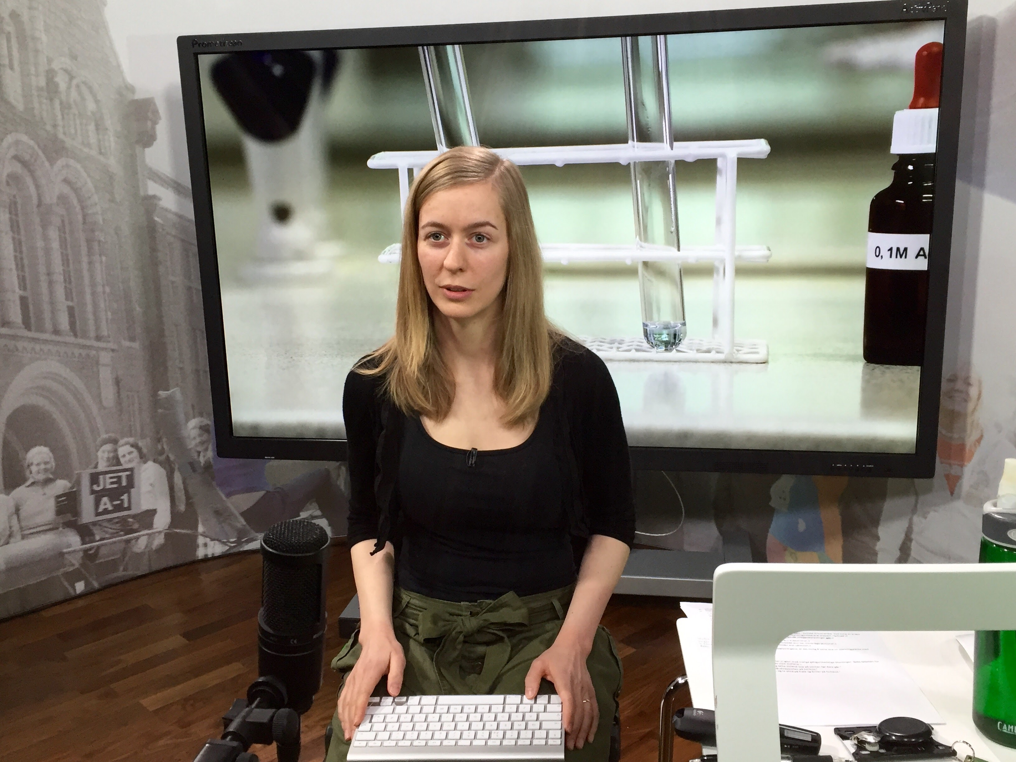Virtuelle kjemiske rom, sett fra en videoprodusents ståsted