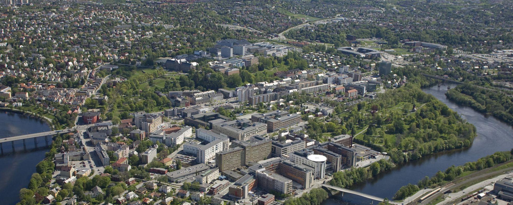 Trondheim, aerial view. Photo.