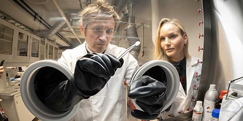 Illustrasjonsfoto fra batterilaboratoriet. Foto: Thor Nielsen/NTNU