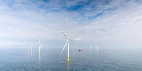 Vindmøller i havet. Foto: Jan Arne Wold