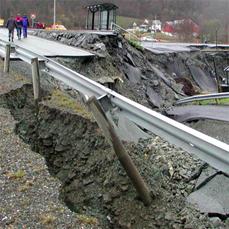 destroyed roads