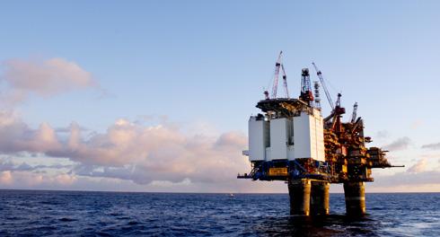 Photo: Oil drilling Plattform Gullfaks C in the North Sea