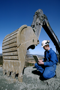 Photo: Researcher at the Department of Civil and Transport Engineering working in the field