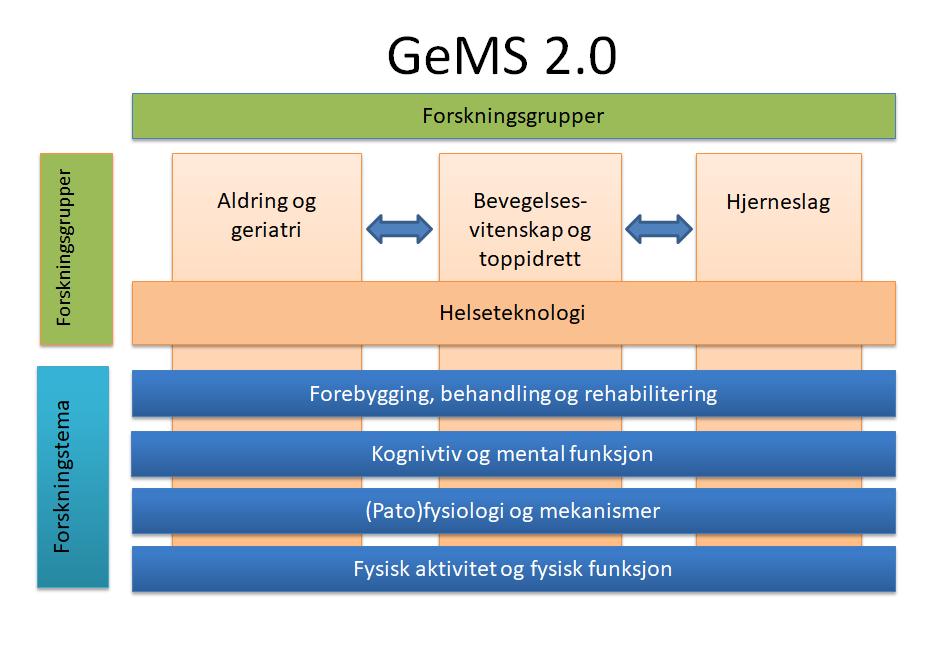 Illustrasjon over oppbygning av fagenheten GeMS