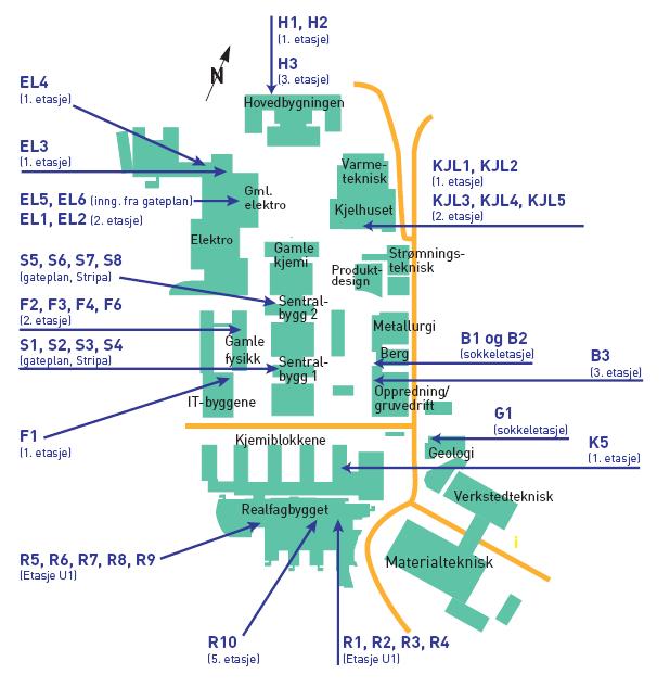 kart over gløshaugen Praktisk informasjon til besøkende   Campusbesøk   Fakultet for  kart over gløshaugen