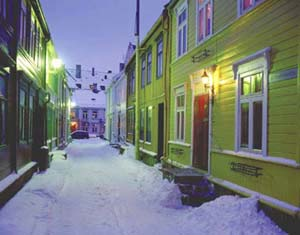 Wooden houses in Trondheim