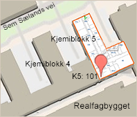 Kart til institutt for kjemisk prosessteknologi