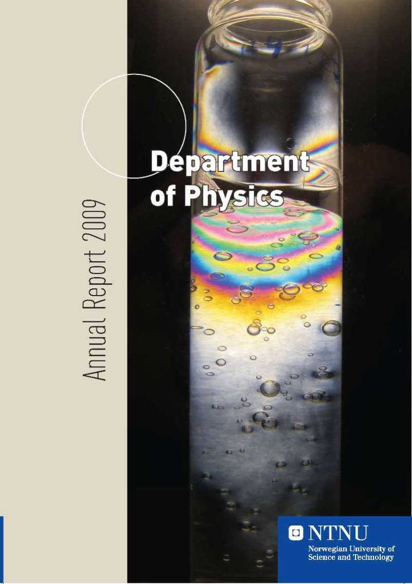 Department of Physics, Annual report 2009