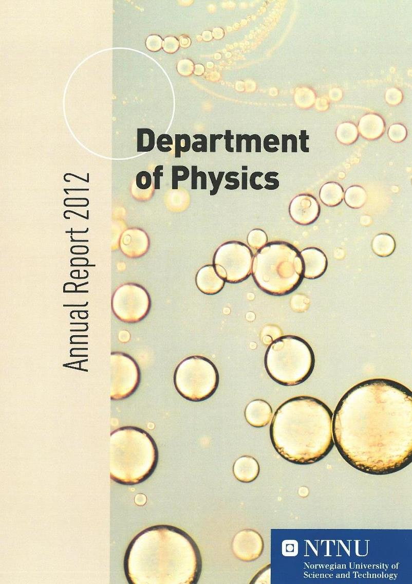 Department of Physics, Annual report 2012