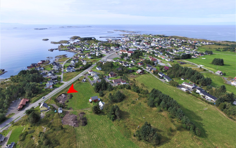 Aerial view. Korsmyra excavation - Neolithic site at Bud (Norway). Photo: Raymond Sauvage / NTNU Vitenskapsmuseet