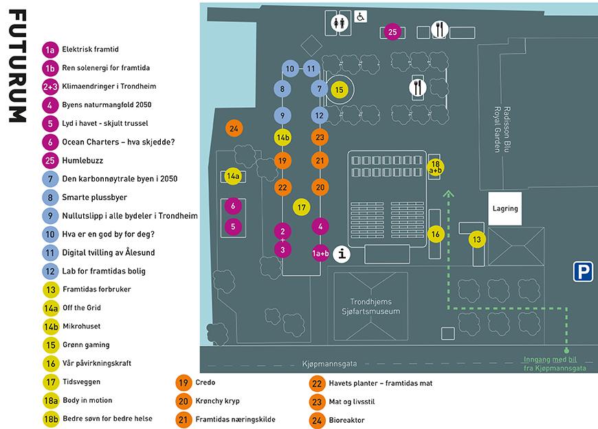 Map of the Arena. Illustration: Kristin Tiller, NTNU University Museum