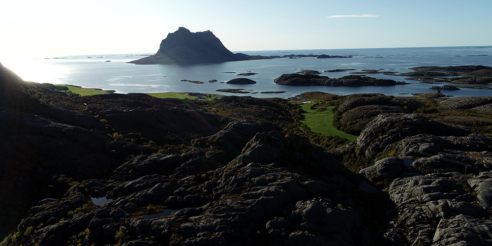 Drone photo from the Åsgarden area with Søla in the background.