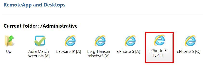 ePhorte-ikonet i programfarmen