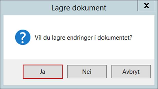 Bekrefte lagring av dokumentet