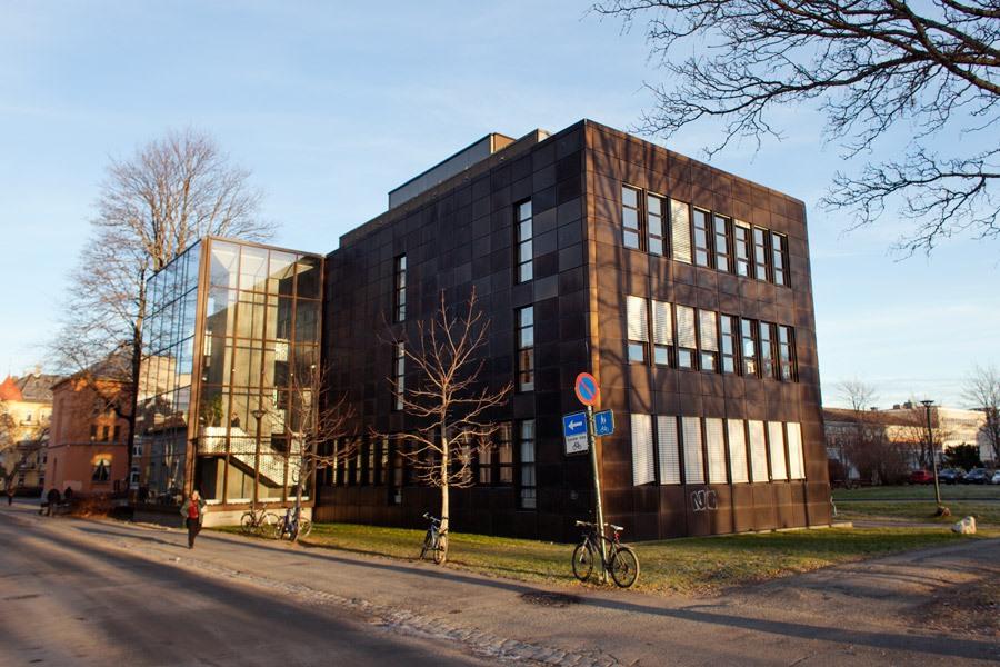 Bygningen der Gunnerusbiblioteket er lokalisert. Foto.