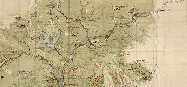 Utsnitt av gammelt kart