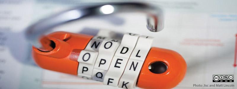 Bildet av en hengelås med kode
