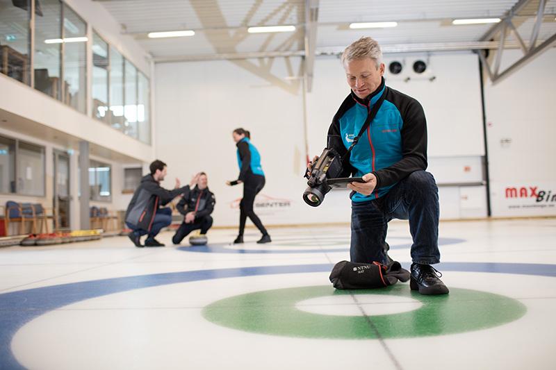 Måling temperatur curlinghall